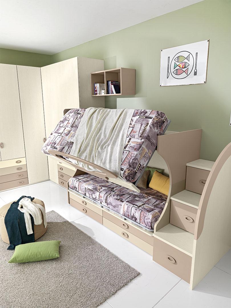 Cameretta per bambini beige | Mottarredi.it